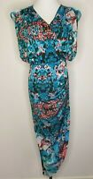 Sheike Abstract High Split Maxi Party Cocktail Dress / Size 8