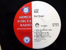 EARL KLUGH / SISTER SLEDGE American Forces Radio LP soul funk disco #936