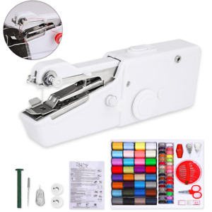 Mini Portable Electric Hand Held Sewing Machine Home Household Tailor Stitch DIY