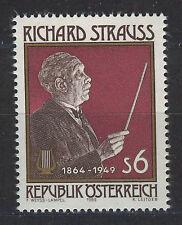 Austria 1989 MNH SC.1463 Richard Strauss, Composer