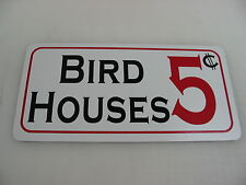BIRD HOUSES Sign for Game Room Farm Texas Country House Store Man Cave