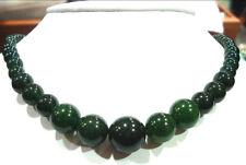 """Fashion Charming 6-14mm 100% natural emerald gemstone necklace 18 """""""