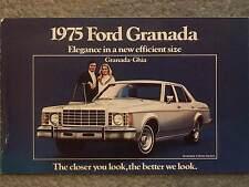 1975 FORD GRANADA  BROCHURE ELEGANCE IN A NEW EFFICIENT SIZE  GRANADA-GHIA  4 DO