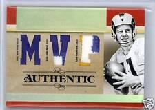 Norm Van Brocklin 07 National Treasures TRIPLE Game Worn PATCH SP /10 NFL HOF QB