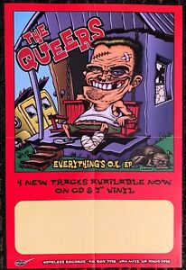 THE QUEERS everything O.K 12x18 promo poster Hopeless PUNK not FAT wreck Epitaph