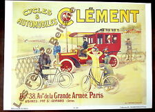 Affiche repro Cycles Automobiles Clément Paris