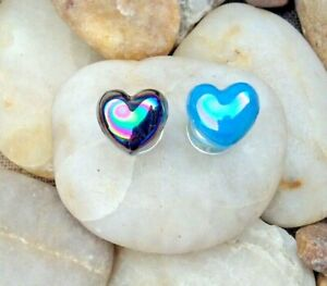 6mm Heart Shaped Glass Plug Tunnel Stretcher - Choice of 2 Colours
