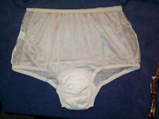 2 Pair Womens Size 11 Incontinence Lace Frt Nylon XXXL Panty Cute Incontinence