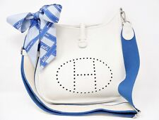 HERMES EVELYNE 3PM III 29 EVELYN JO STAMP (2011) WHITE AMAZON STRAP