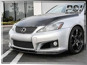 L-Type Carbon Fiber Front Bumper Add-On Lip FOR 2006-2013 Lexus ISF IS F Only CF