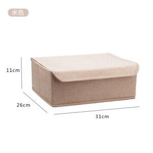 Drawer Organizer w/ Lid Underwear Divider Closet Storage Box Bra Socks Container