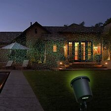 Holiday Light Shower Laser Light Projector Red & Green LED w/ Ground Stake