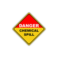 Danger Chemical Spill OSHA Hazardous Metal Aluminum Safety Sign 12x12