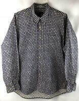 R&R CASUALS Men's Shirt Size XL, 100% Cotton Long Sleeve Casual, F