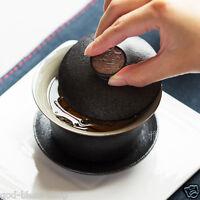 Chinese porcelain gaiwan black pottery tureen cover bowl kung fu tea sets teacup