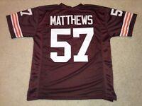 UNSIGNED CUSTOM Sewn Stitched Clay Matthews Jr. Brown Jersey - M, L, XL, 2XL