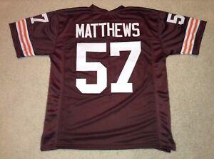 UNSIGNED CUSTOM Sewn Stitched Clay Matthews Jr. Brown Jersey - M, L, XL, 2XL, 3X