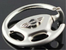 CHROME MINI COOPER LOGO Car Steering Wheel key Chain Ring