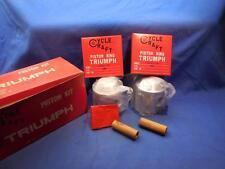 Triumph 650 Piston Set CycleCraft  347-2152 w/ Rings STD NOS  NP8285
