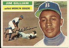 "1956 Topps  #280 Jim ""Junior"" Gilliam Brooklyn Dodgers EX+ Centered Well"