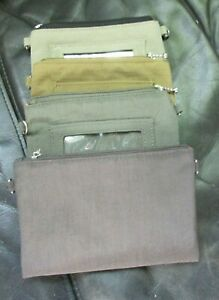 NEW BAGGALLINI PADDED NYLON ZIPPERED S POUCHES for Cards/Keys, Sold individually
