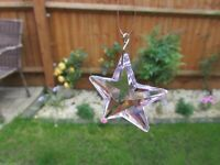 AUSTRIAN 40mm ROSE CRYSTAL STAR, IDEAL AS A SUN CATCHER, FENG SHUI, OR PENDENT