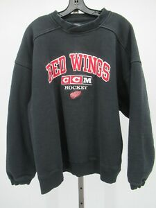 G9858 VTG CCM Detroit Red Wings NHL-Hockey Pull-Over Crewneck Sweater Size XL