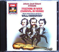 Willi Boskovsky Carnevale a Vienna Strauss EMI CD Johann Josef Eduard maskenzug