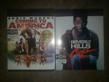 Coming to America & Beverly Hills Cop 4K UHD,  & slipcover Lot