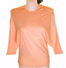 Bnwt Womens Oakley 3/4 Stretch Batwing T Shirt Medium Peach Regular Fit