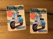 2x Roller pegatinas Vespa italia Lambretta Retro Vintage ciclomotor aire refrigerado #395