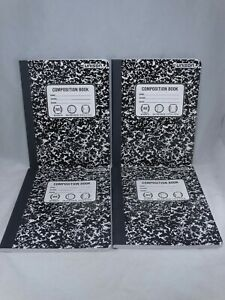 Unison Composition Black Notebooks College Ruled 80 Sheets Each Lot of 4