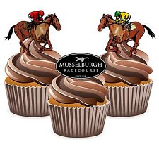 Horse Racing Musselburgh Racecourse 12 Edible Cup Cake Toppers Cake Decorations