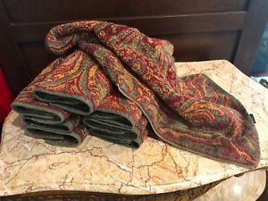 Ralph Lauren Great Barrington Burgundy & Sage Green Hand Towel