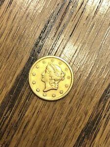 1849 O G$1 GOLD DOLLAR TYPE 1 NICE ORIGINAL GREAT FIRST YEAR TYPE COIN XF