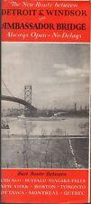 Vintage 1939 Michigan Travel Brochure - Detroit & Windsor via Ambassador Bridge