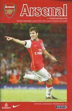 Football Programme - Arsenal v Portsmouth - Premiership - 2/9/2007