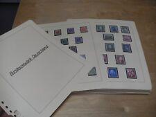 BUND Sammlung 1949-1990 sehr sauber gestempelt auf Lindner Seiten (244)