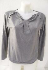 Haut ♥ LA REDOUTE ♥ Taille M 38 40 t-shirt gris manches longues Femme
