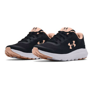 Under Armour Womens Surge 2 Running Shoes Trainers Sneakers Black Sports