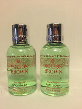 "MOLTON BROWN LONDON ""EUCALYPTUS"" BATH & BODY WASH GEL (1.7oz x 2)  NEW"