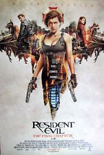 RESIDENT EVIL:FINAL CHAPTER MOVIE POSTER FROM ASIA - Milla Jovovich Holds 2 Guns
