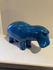 Metropolitan Museum of Art Mma William Blue Ceramic Hippo Hippopotamus Mascot