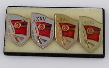 Orig. DDR Abzeichen Ministerium für Staatssicherheit Stasi 20, 25, 30, 35 Jahre