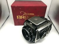 【Nr MINT Boxed】 Bronica S2 6x6 Film Camera + Nikkor-P 75mm F2.8 From Japan