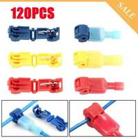 (120) T-Taps/Male Insulated Wire Terminal Connectors Combo Set 14-16 10-12 18-22