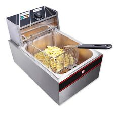 6L Electric Countertop Deep Fryer Commercial Basket French Restaurant 2500W VAT