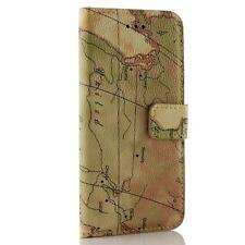 Urcover® Mobile Cases MAP STYLE Handytasche Cover  Glass film