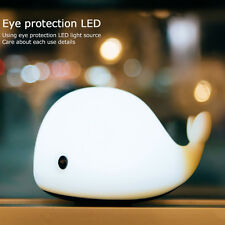 Cute Dolphin Animal Design Silicone Colorful Night Light USB Rechargeable Lamp