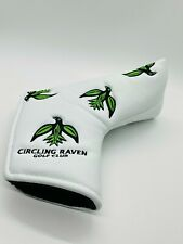Circling Raven Golf Club Idaho Leather Magnetic Blade Putter Headcover Members